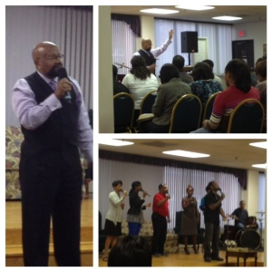 "Bishop Hilliard speaks on ""I Will Not Bow Down"" on the opening night of the Singles Conference"